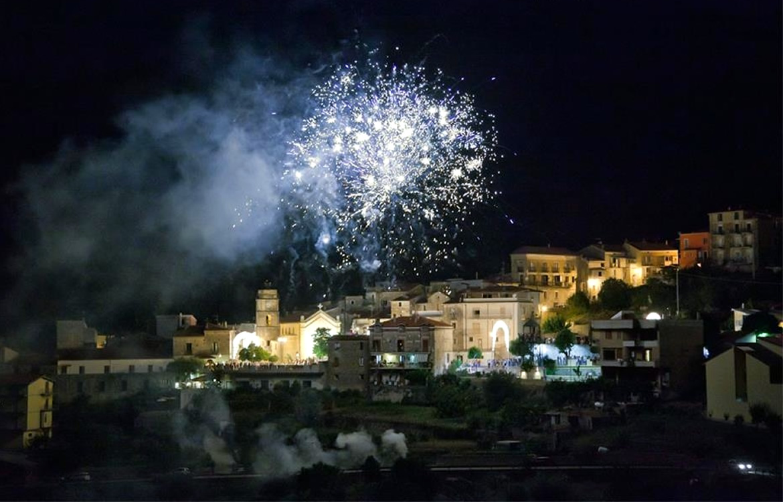 Cardile - Fuochi d'artificio per la festa patronale