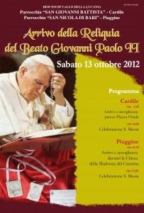 Arrivo della Reliquia del Beato Giovanni Paolo II
