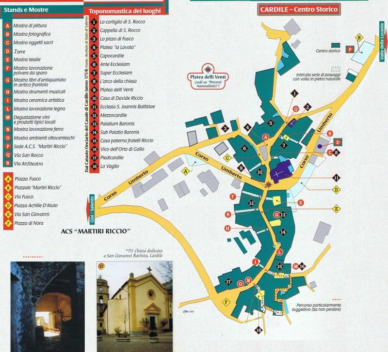 Cartina centro storico