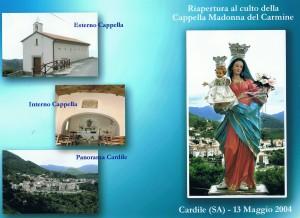 Riapertura al culto della Cappella della Madonna del Carmine