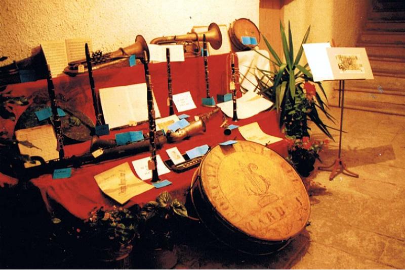 Strumenti antica banda di Cardile