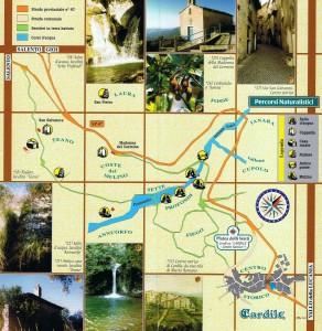 Mappa percorsi naturalistici