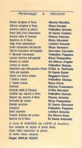 Dramma San Rocco personaggi