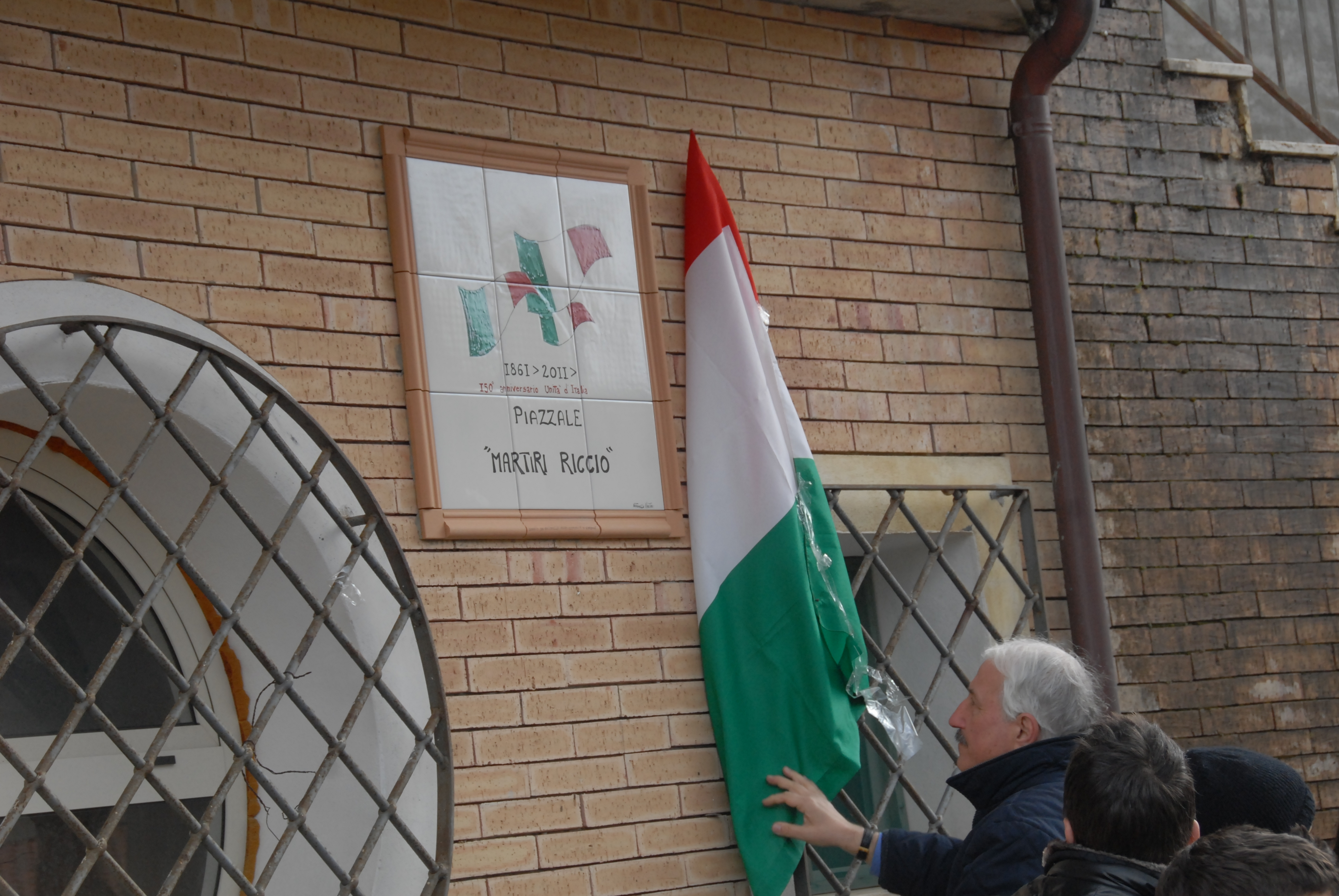 """Intestazione """"Piazzale Martiri Riccio"""""""